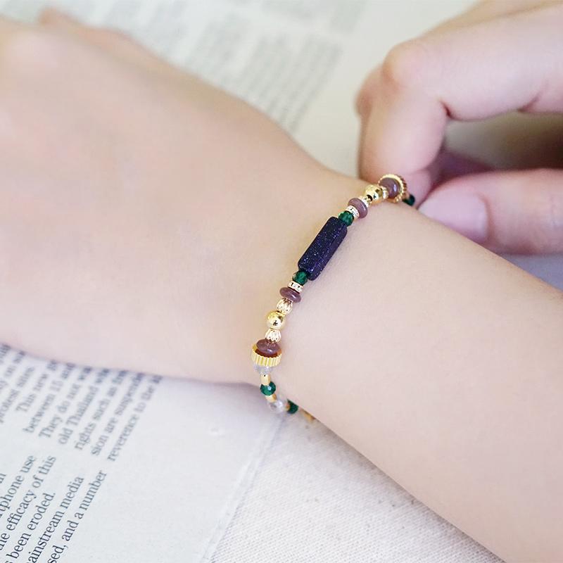 憶念品彙 – 藍金沙 – 手鍊