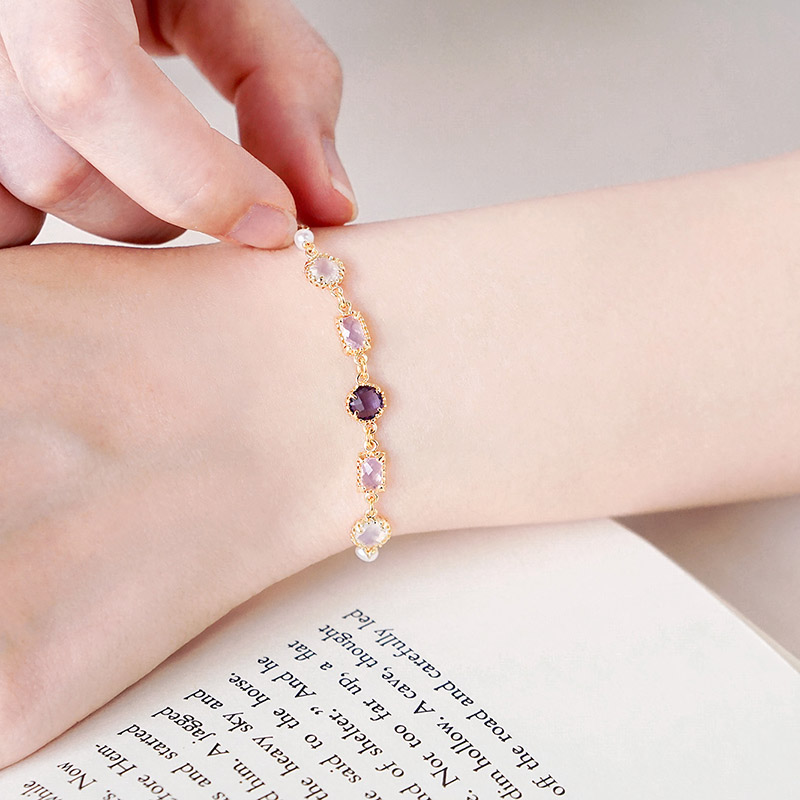 星夜裡的人 – 紫粉 – 手鍊