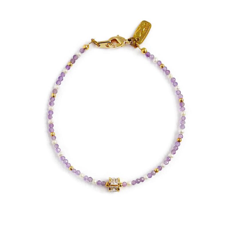 繡球花崇拜 – 紫水晶 – 手鍊