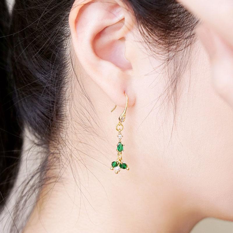 星夜裡的人 – 綠 – 耳環