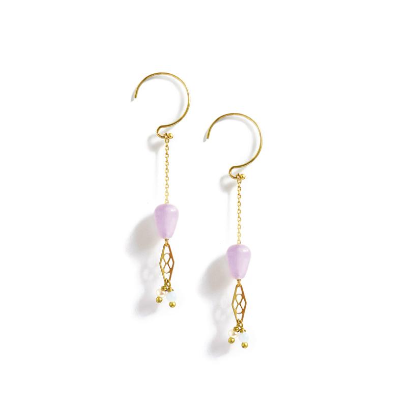 與你同行 – 紫水晶 – 耳勾耳環