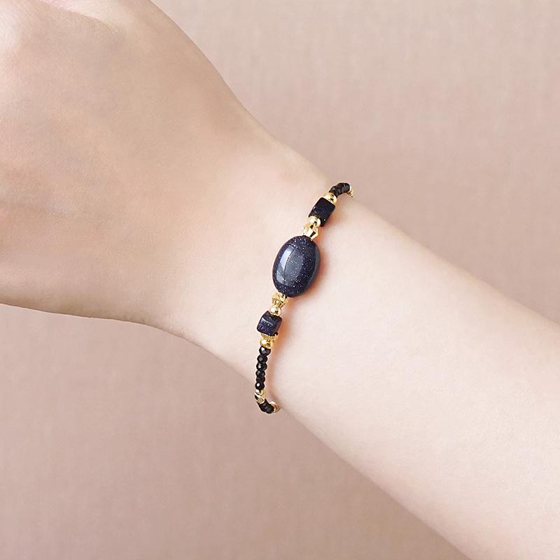 年中慶特殊款 – 藍金沙– 手鍊(限量加購價699元)