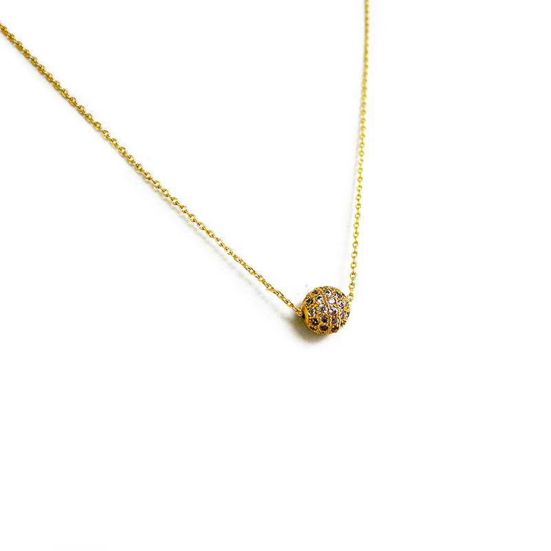 優雅鋯石款 – 球形鑽 – 項鍊
