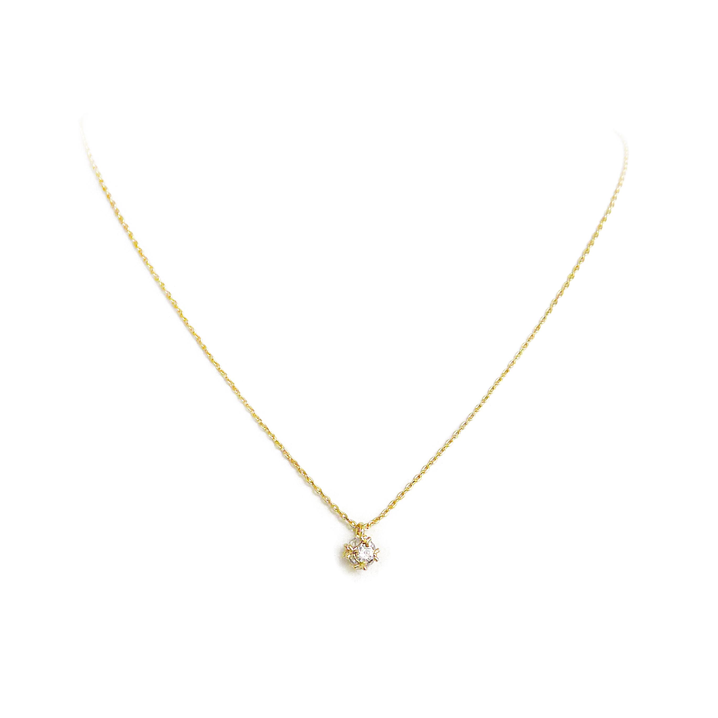 優雅鋯石款 – 金球 – 項鍊