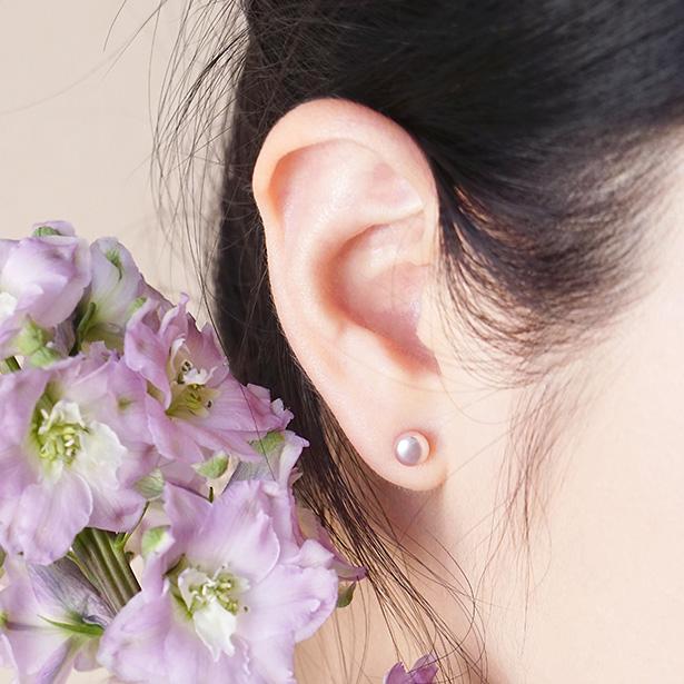多彩珍珠 – 丁香紫 – 耳環