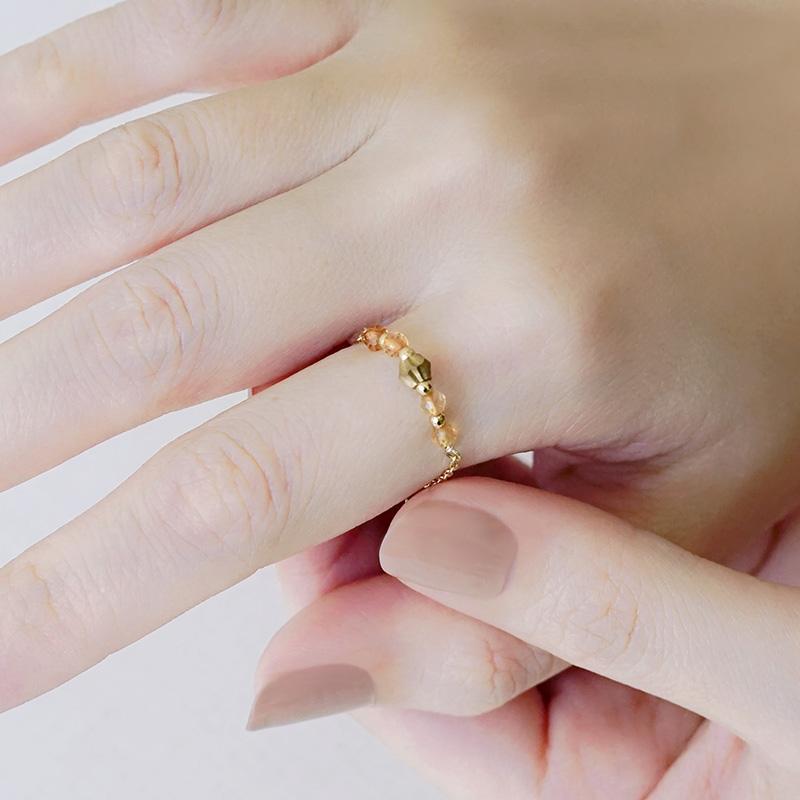 寶石調節式線戒 – 黃水晶 – 戒指