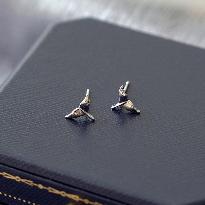 賽倫之音 – 魚尾 – 銀 – 耳環